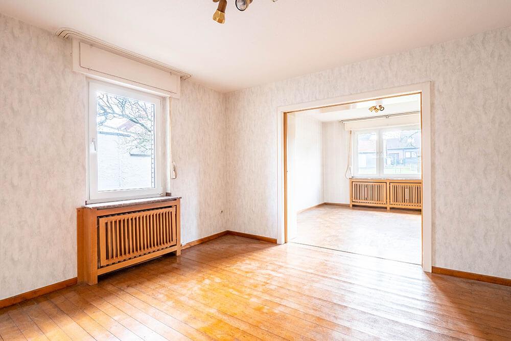 Wohn- und Essbereich eines Einfamilienhauses in der Hedwigstraße Paderborn