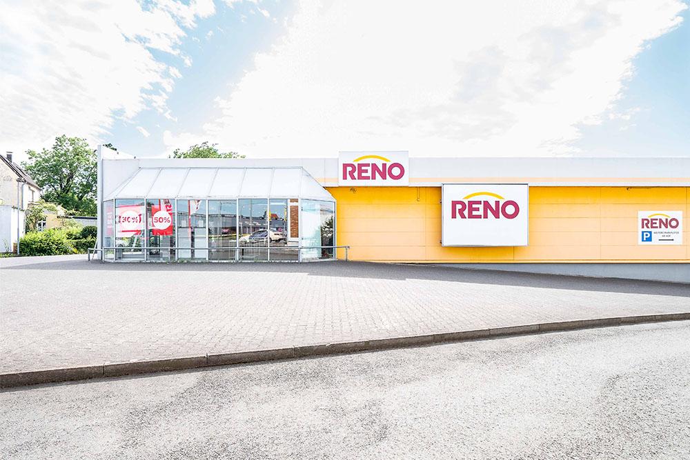 Seitenansicht des Reno Gebäudes in Paderborn
