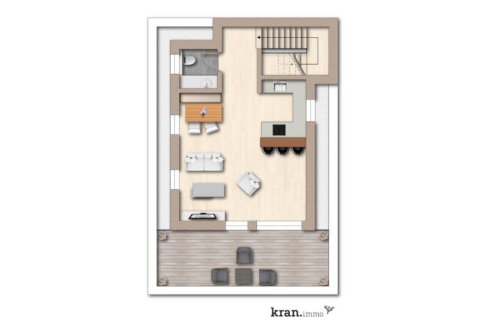 Grundriss einer 4 Zimmer Neubau Eigentumswohnung in Paderborn